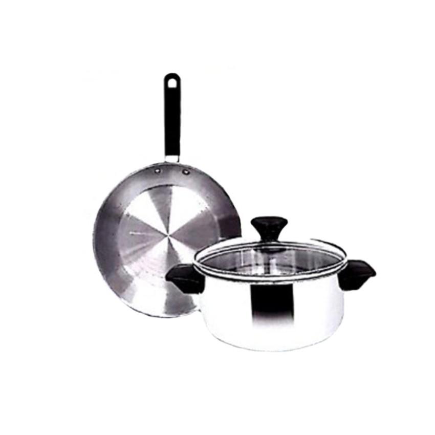 ... Maspion Panda Set Fit B Dutch Oven dan Frypan Stainless Set Silver