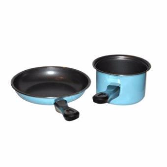 Maspion Pastela Set Fry Pan 20cm & Milk Pan 14cm