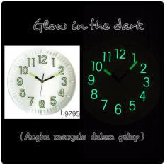 Meridient Jam Dinding GTD1 9795 - Glow in the Dark (Angka menyala dalam Gelap)