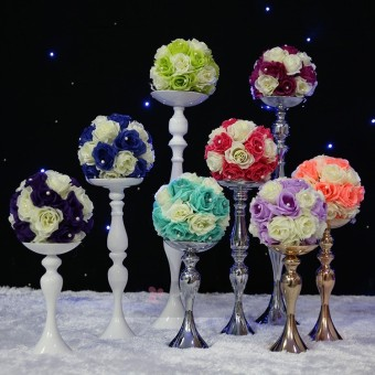 ... Metal Candle Holder Candle Stand Wedding Centerpiece Event Road Lead Flower Rack White - intl ...