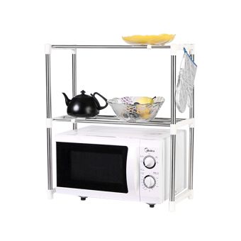 Microwave Oven Stainless Steel Shelf Storage Rack - Rak Penyimpanan Dapur