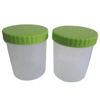 Mitra Loka - Toples Bulat Plastik Set 2Pieces - Hijau