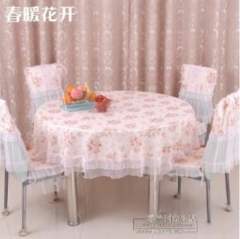 Modern kain pastoral meja kopi meja bundar bantal taplak meja makan