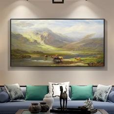 Modern Seni Dekorasi Lukisan Cat Minyak Di Atas Kanvas HD Cetak Lanskap Lukisan