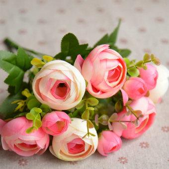 Musim Semi ruang tamu meja makan bunga Camellia Rose Bouquet