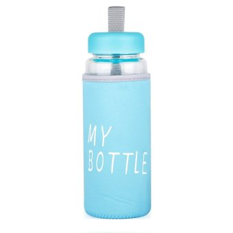 My Bottle Box Biru With Pouch Biru