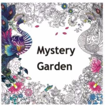 My Craft ST 7780 Adult Colouring Book Mystery Garden