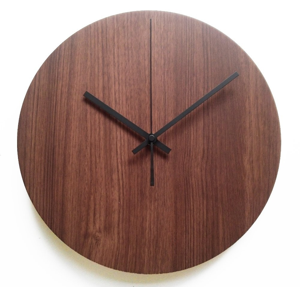 Nail Your Art Jam Dinding Unik Artistik Basic Mahogany Indonesia Owl Wall Clock
