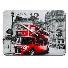 Nail Your Art Jam Dinding Unik Artistik - Red Bus - Artistic Unique Wall Clock