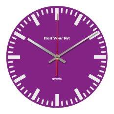 Nail Your Art Jam Dinding Unik Artistik - Simply Purple - Artistic Unique Wall Clock