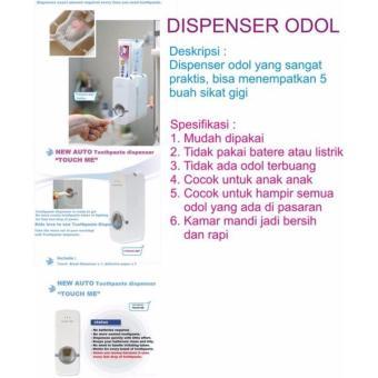 Neo Dispenser Odol Toothpaste Dispenser & Brush Set DispenserOdol Pasta Gigi Dan Tempat Sikat Gigi - 3