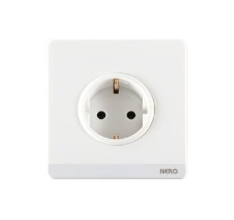Nero Decora Q716VG-W Stop Arde / Stop Kontak ( 1 Gang Schuko Socketwith Shutter