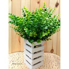 New Hijau 7-Cabang Palsu Buatan Plastik Bunga-Bunga Dekorasi Cafe Eucalyptus Di Sutra