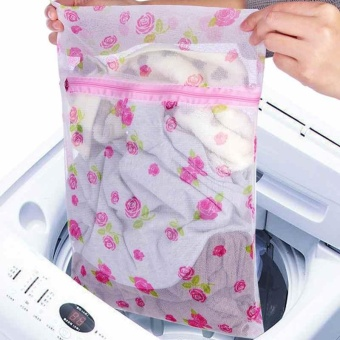 New Zippered Net Mesh Laundry Wash Bags for Delicates Lingerie Underwear Clothes - intl
