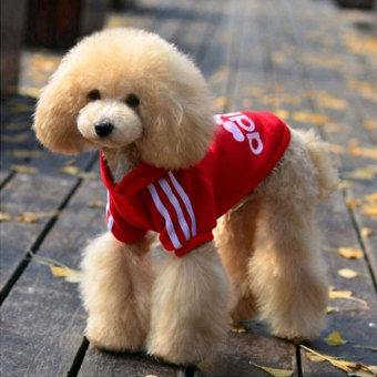 niceEshop Warm Cotton Pet Dog Cat Puppy T Shirt Hoodies Coat Clothes Apparel (Red,L) - 3