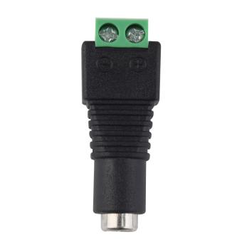 OH DC12V Power Plug Adapter Connector Female For 5050 3528 LED Strip Light