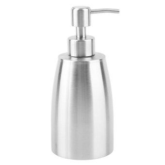 Oh Stainless Steel pompa dispenser sabun cair lotion pembersihtangan botol Perak - 2