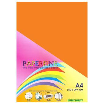 Paperfine Kertas HVS Warna A4 Saffron - Isi 25 Lembar
