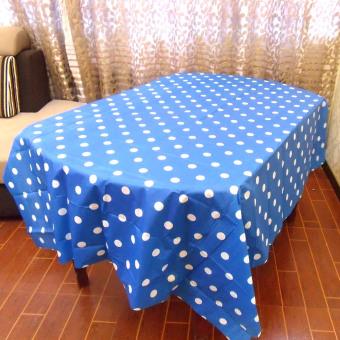 Party pelindung layar plastik persegi panjang taplak meja taplak meja pakai taplak meja