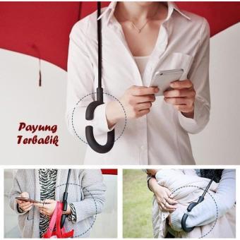 Payung Kazbrella Payung Terbalik Reverse Gagang C Bentuk Lancip & Kotak