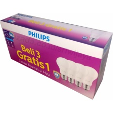Philips LED Bulb 13W Multipack isi 4bh - Putih