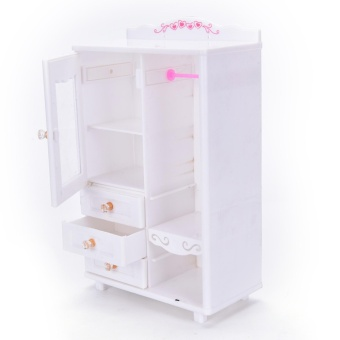 Plastic Furniture Living Room Wardrobe for Barbie Dollhouse Accessories Toy - intl