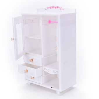 Plastic Furniture Living Room Wardrobe for Barbie DollhouseAccessories Toy quality - intl