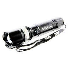 Police Senter Swat 99000 w LED Cree Rechargable - Cahaya Putih