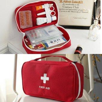 Detail Gambar Portabel First Aid Kit medis darurat Survival casing Kedokteran penyimpanan casing untuk perjalanan outdoor olahraga Camping alat medis rumah ...