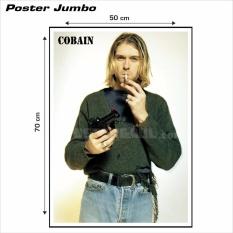 Poster Jumbo Kurt Cobain RJ8 50 x 70 cm Poster Gaul ID Lazada .