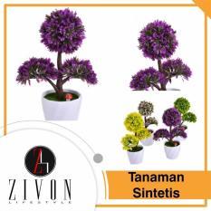[PROMO] Dekorasi Tanaman Sintetis Palsu Bulat Synthetic Fake Flower Plant YZB10