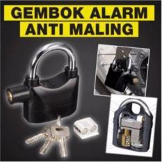QuincyHome Gembok Alarm Super Kuat Serbaguna Anti Maling - Original - Ring Panjang