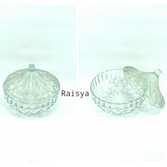 Raisya Mangkuk Kaca Elegant Dengan Tutup - D=13cm