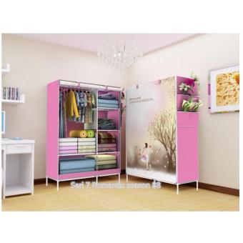 harga Rak Pakaian Plastik Furniture Murah Lemari Baju Gantung Lemari Handuk Lemari Sprei Handuk Tas Love Girl Lazada.co.id