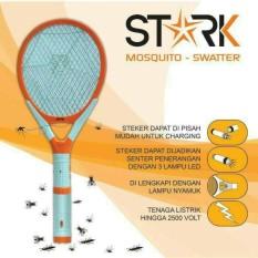 Raket Nyamuk STARK 3in1 bisa CHARGE, SENTER, LAMPU INDIKATOR STK-002