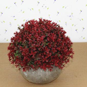 Retro simulasi pot tanaman pohon bola
