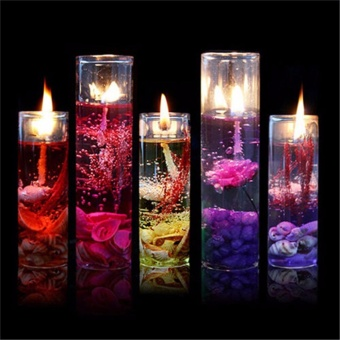 Romantic Smokeless Candles Ocean Shells Jelly Aromatherapy CandlesDecoration - intl