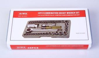 Ronaco Kunci Socket Wrench Pas Sok Shock Sock Set 40 Pcs - 4 .