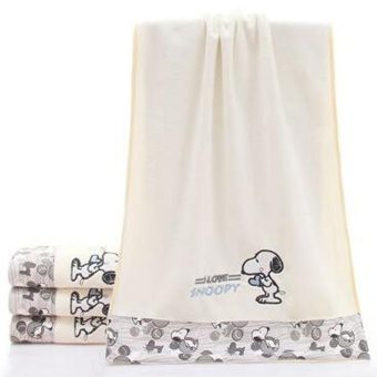 Harga Rorychen Microfiber Bath Towels Embroidered Snoopy Gauze Towel -intl