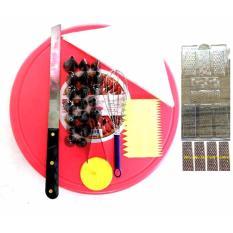 Rosita Set Alat Hias Kue Meja Putar Spuit Set Whisker Scraper Cetakan Coklat Spatula Piping Bag Paku Payung