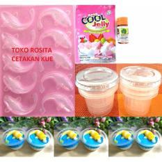 Rosita Set Cetakan Puding Koi, Jelly Susu, Cup Plastik Dan Pewarna Orange