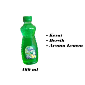 Sabun Cuci Piring, YORA, ekstrak lemon, 480 ml