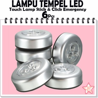 Sale !! 6Pcs Lampu Tempel LED - Touch Lamp Stick n Click Emergency - Lampu Led Tempel / Touch Lamp Stick / Lampu Led Lemari Baju / Gudang / Lampu Belajar