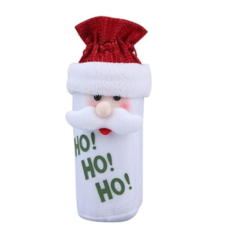 Santa Claus Christmas Decoration Wine Bottle Bag(Red) - intl