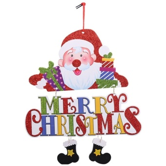 Santa Claus Snowman Tree Door Christmas Decoration Hanging Pendant(Red) - intl
