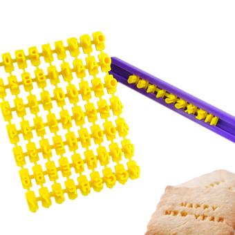 Oh Kue Fondant Kukis Abjad Huruf Nomor Embosser Prangko Cetakan Source · Alat Cetakan Biskuit Kue Permen Ungu Hengsong 40 Buah Simbol Alfanumerik Plastik