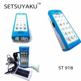Setsuyaku Lampu Emergency 18 + 2 Led, Bholam LED, Senter, Charge Solar Panel
