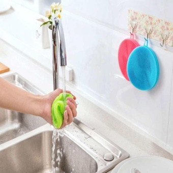 Silicone Dish Washing Sponge Scrubber Kitchen Cleaningantibacterial Tool Clean - intl