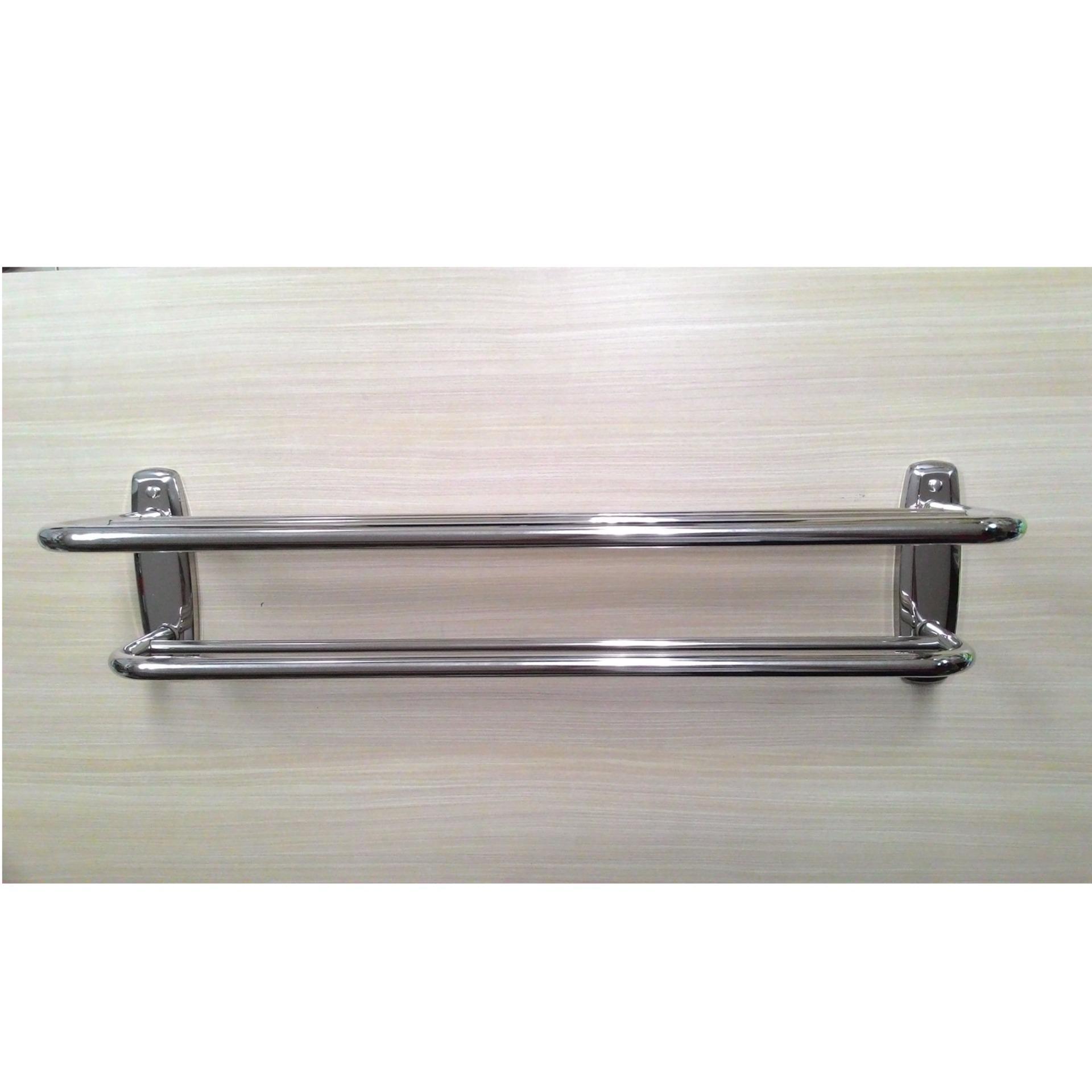Premium Rak Dinding Handuk Aluminium Toilet Kamar Mandi Elegan Serbaguna 3 Susun Multifungsi Source Sloof Wc
