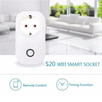 Sonoff Itead S20 Wireless 2/3/4G WiFi Smart Timer APP RemoteControl Power Switch Socket UK Plug - intl